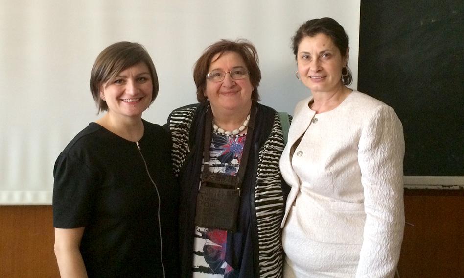 Relatrici dell'incontro del 9 maggio: Ingrid Bonsi, Liana Baroni, Concetta Stormante